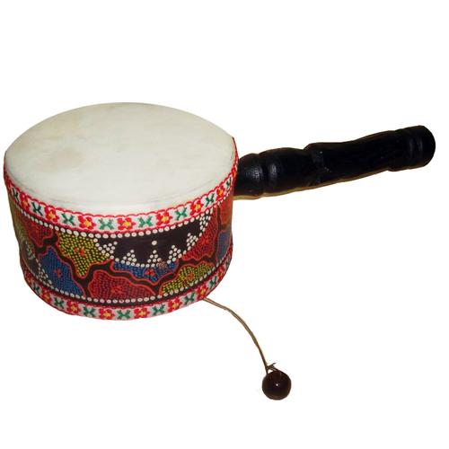 Барабан расписной с ручкой 15230
