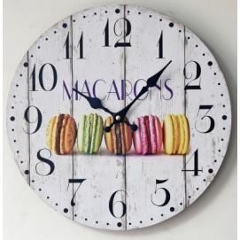 """Часы настенные """"Makarons"""" Ø 35 см белые Clok"""