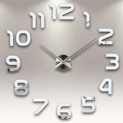 Часы настенные S002-B Ø 70-130 см Clock зеркальный