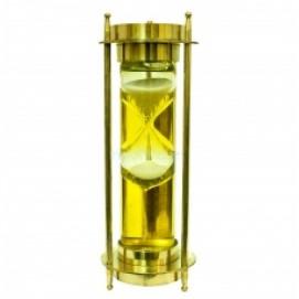 Часы латунные песочные с компасом, 2 цвета (фа-чп-09)