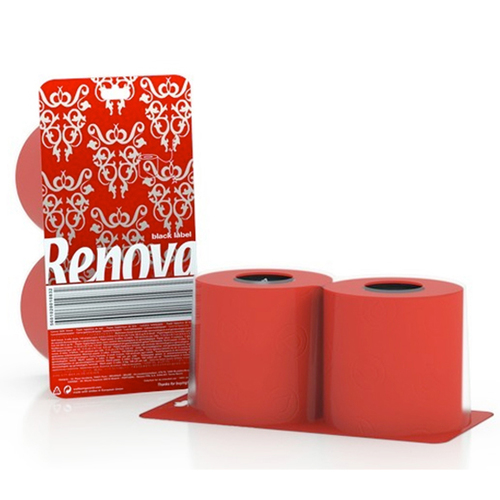 Renova туалетная бумага   красная 2 шт. 10825