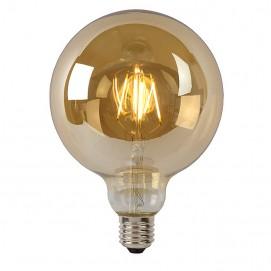 LED лампочка Эдисона G125 5W 400LM 2700K Amber янтарное стекло
