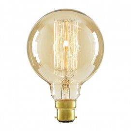 Лампочка Эдисона G125 40W 2700K Amber янтарное стекло Thexata
