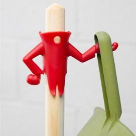 Крючок для щетки и совка Mr.Brooman Peleg Design Красный