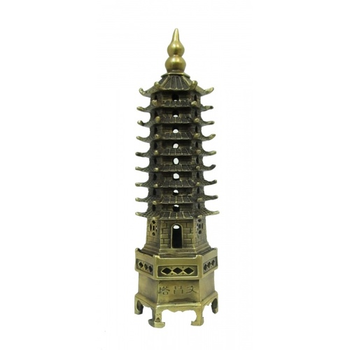 Статуетка Бронзовая пагода (фа-бп-05).