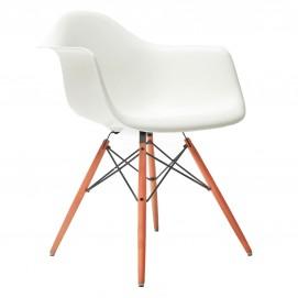 Кресло Paris белое Primel ноги дерево