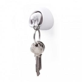 Ключница настенная и брелок для ключей Polar Bear Qualy белый