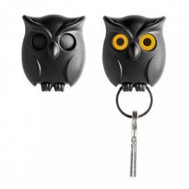 Ключница настенная Night Owl Qualy чёрная