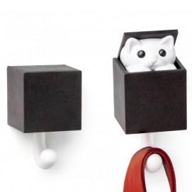 Настенный крючок Kitt-a-boo Qualy бело-чёрный