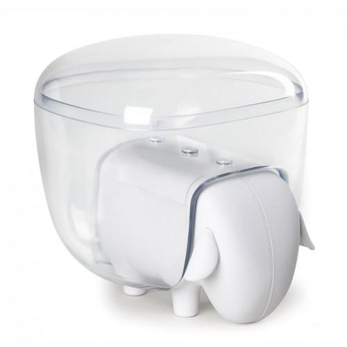 Контейнер для хранения ватных палочек Sheepshape Cotton Box Qualy бело-прозрачный