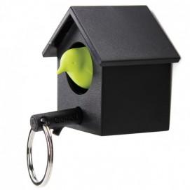Ключница настенная и брелок для ключей Cuckoo Qualy чёрно-зелёная