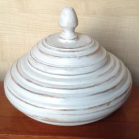 Шкатулка кокон, 20×15 см, белая Etnoxata 51208S
