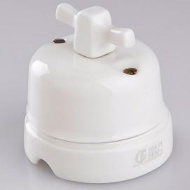 Выключатель поворотный проходной Modern White фарфор Gi Gambarelli