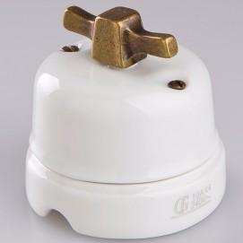 Выключатель поворотный проходной Moddern Copper фарфор Gi Gambarelli