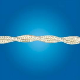 Электрический кабель плетёный mm 2×0.50 (бежевый, шёлк)