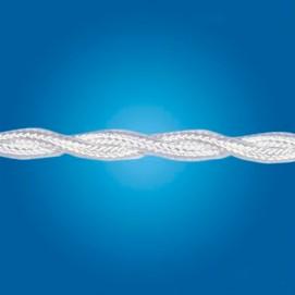 Электрический кабель плетёный mm 2×0.50 (белый, шёлк)