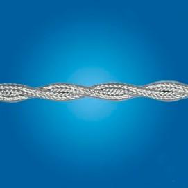 Электрический кабель плетёный mm 3×0.5 (серый, шёлк)