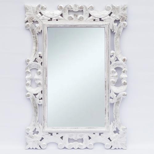 Зеркало Ажур 145 см 80 см тик белое Etnoxata 71203-c