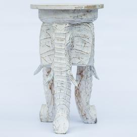 Стул на 3-х слонах 50 30 см белый Etnoxata