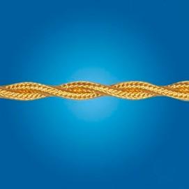 Электрический кабель плетёный mm 2×0.50 (золотой, шёлк)