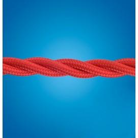 Электрический кабель плетёный mm 2×0.50 розовый