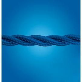 Электрический кабель плетёный mm 2×0.50 синий