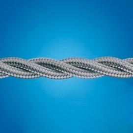 Электрический кабель плетёный mm 2×0.50 тёмно-серый