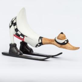 Утка-лыжник 20 см Etnoxata белая
