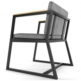 Мягкий стул серый HORIZON