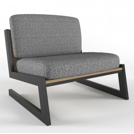 Кресло EASY серое Cube44