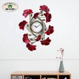 """Часы """"Красный мак"""", Р4-6 43х54 см Clock цветное"""