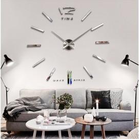Часы настенные S003-B Ø 70-130 см Clock серебро