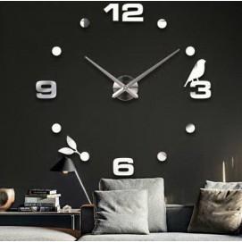 Часы настенные S006 Ø 70-130 см Clock серебро
