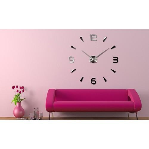 Часы настенные 3M013-D d 70-130 см серебро Clok