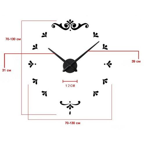 Часы настенные 3M012-S d 70-130 см серебро Clok