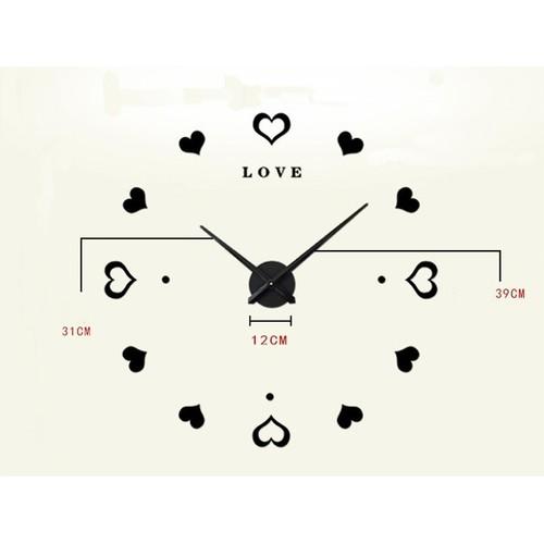 Часы настенные 3M010-D d 70-130 см черные Clok
