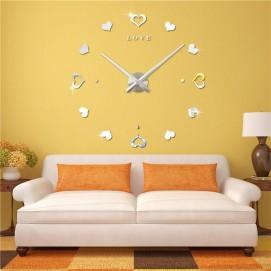 Часы настенные 3M010-S d 70-130 см серебро Clok