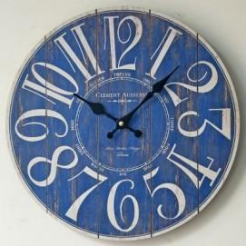 Часы настенные Clement Ø 35 см синее Clok