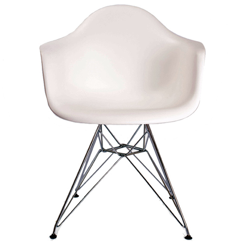 Кресло Eames белый iCOO ноги металл