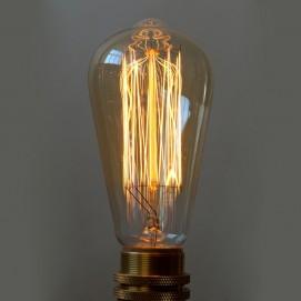 Лампочка Эдисона ST64 X-ed  Amber с нитью накаливания янтарное стекло
