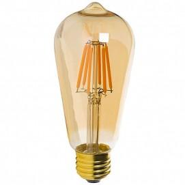 LED лампочка ST64 6W 2700K Amber янтарное стекло Thexata