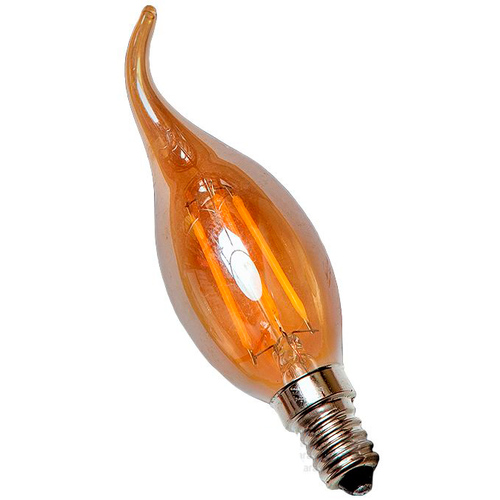 LED лампочка C35L 4W 2700K Amber янтарное стекло Thexata