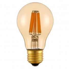 LED лампочка Эдисона A60 4W 2700K Amber янтарное стекло Thexata