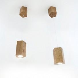 Светильник Hexon 3 подвесной Solovero ольха винтажная 170х121х115