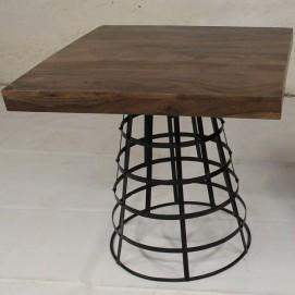 Стол квадратный тёмно-коричневый IRON BASE TABLE CHOCOLATE 76×80×80 шишам Ganesha