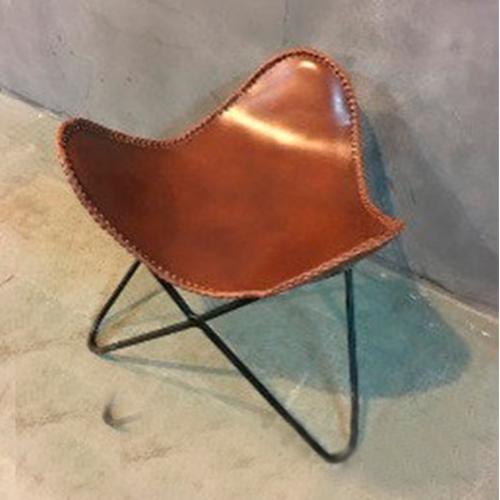 Стул IRON JUTE BUTTERFLY 951S 45×45×45 см коричневое