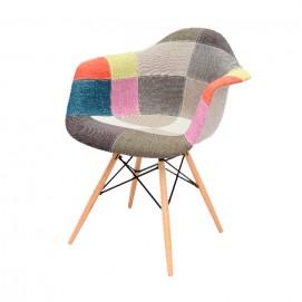 Кресло Paris fabric DCV1-РК2 ноги дерево Primel цветная ткань