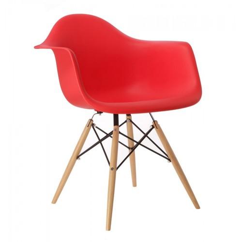 Кресло Paris красное Primel ноги дерево