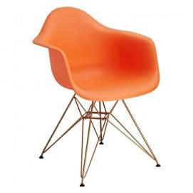 Кресло Paris оранжевое Primel ноги металл
