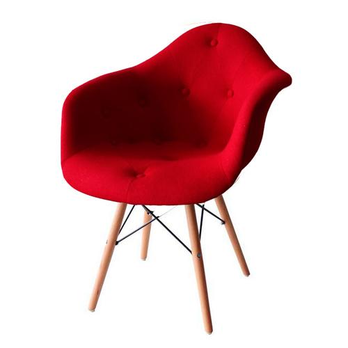 Кресло Paris wool красное шерсть ноги дерево Primel